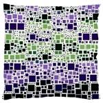 Block On Block, Purple Large Flano Cushion Case (Two Sides)