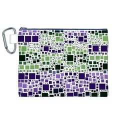 Block On Block, Purple Canvas Cosmetic Bag (xl) by MoreColorsinLife