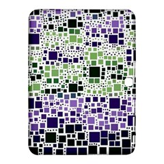 Block On Block, Purple Samsung Galaxy Tab 4 (10 1 ) Hardshell Case  by MoreColorsinLife