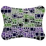 Block On Block, Purple Jigsaw Puzzle Photo Stand (Bow)