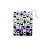 Block On Block, Purple Drawstring Pouches (XS)