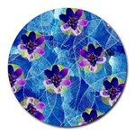Purple Flowers Round Mousepads