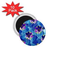 Purple Flowers 1 75  Magnets (10 Pack)  by DanaeStudio