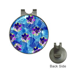 Purple Flowers Hat Clips With Golf Markers by DanaeStudio