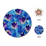 Purple Flowers Playing Cards (Round)
