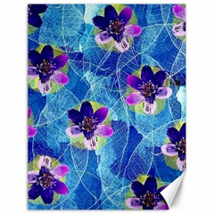 Purple Flowers Canvas 18  X 24   by DanaeStudio