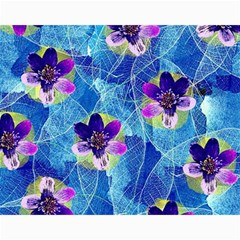 Purple Flowers Canvas 11  X 14   by DanaeStudio
