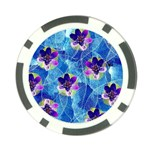 Purple Flowers Poker Chip Card Guards