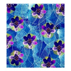Purple Flowers Shower Curtain 66  X 72  (large)  by DanaeStudio