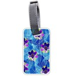 Purple Flowers Luggage Tags (One Side)
