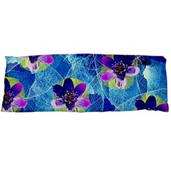 Purple Flowers Body Pillow Case (dakimakura) by DanaeStudio