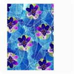 Purple Flowers Large Garden Flag (Two Sides)