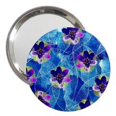 Purple Flowers 3  Handbag Mirrors by DanaeStudio