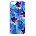 Purple Flowers Apple iPhone 5 Seamless Case (White)