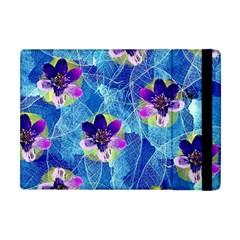 Purple Flowers Apple Ipad Mini Flip Case by DanaeStudio