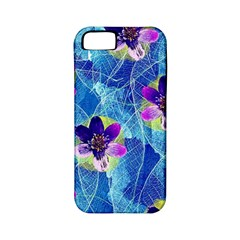 Purple Flowers Apple Iphone 5 Classic Hardshell Case (pc+silicone) by DanaeStudio