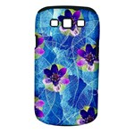 Purple Flowers Samsung Galaxy S III Classic Hardshell Case (PC+Silicone)