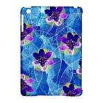 Purple Flowers Apple iPad Mini Hardshell Case (Compatible with Smart Cover)