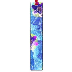 Purple Flowers Large Book Marks by DanaeStudio