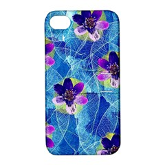 Purple Flowers Apple Iphone 4/4s Hardshell Case With Stand by DanaeStudio