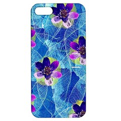 Purple Flowers Apple Iphone 5 Hardshell Case With Stand by DanaeStudio