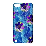 Purple Flowers Apple iPod Touch 5 Hardshell Case with Stand