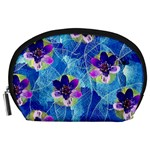 Purple Flowers Accessory Pouches (Large)