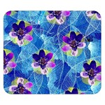 Purple Flowers Double Sided Flano Blanket (Small)