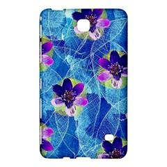 Purple Flowers Samsung Galaxy Tab 4 (8 ) Hardshell Case  by DanaeStudio