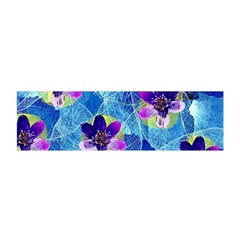 Purple Flowers Satin Scarf (oblong) by DanaeStudio