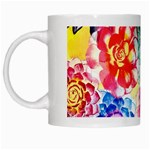 Colorful Succulents White Mugs
