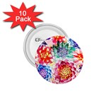 Colorful Succulents 1.75  Buttons (10 pack)