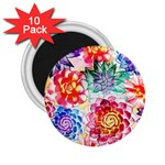 Colorful Succulents 2.25  Magnets (10 pack)