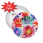 Colorful Succulents 2.25  Buttons (100 pack)