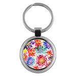 Colorful Succulents Key Chains (Round)