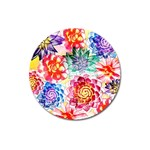 Colorful Succulents Magnet 3  (Round)