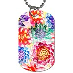Colorful Succulents Dog Tag (One Side)