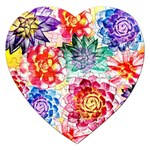 Colorful Succulents Jigsaw Puzzle (Heart)