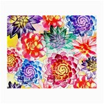 Colorful Succulents Small Glasses Cloth