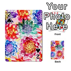 Colorful Succulents Playing Cards 54 Designs  by DanaeStudio