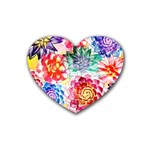 Colorful Succulents Heart Coaster (4 pack)