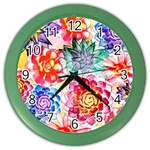 Colorful Succulents Color Wall Clocks