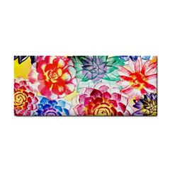Colorful Succulents Hand Towel by DanaeStudio