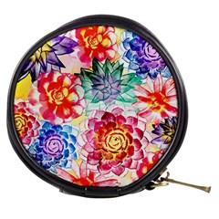Colorful Succulents Mini Makeup Bags by DanaeStudio