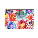 Colorful Succulents Cosmetic Bag (Large)