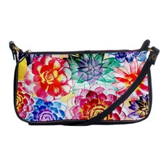 Colorful Succulents Shoulder Clutch Bags by DanaeStudio