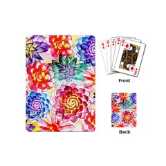 Colorful Succulents Playing Cards (mini)  by DanaeStudio