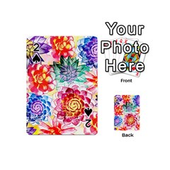 Colorful Succulents Playing Cards 54 (mini)  by DanaeStudio