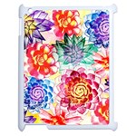 Colorful Succulents Apple iPad 2 Case (White)