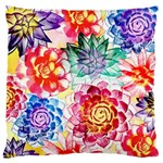 Colorful Succulents Large Cushion Case (One Side)